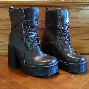 Sketchers Platform Chunky Heel Boots